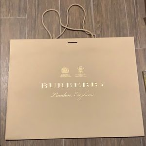 Authentic Burberry shopping bag